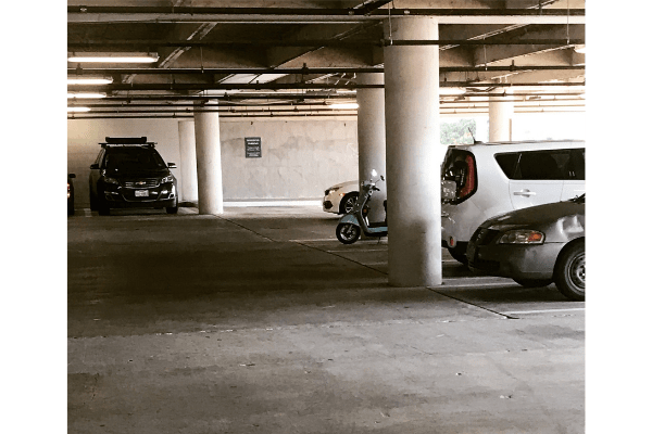 Parking example in a parking lot