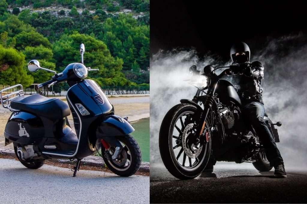 scooter image vs motorcycle